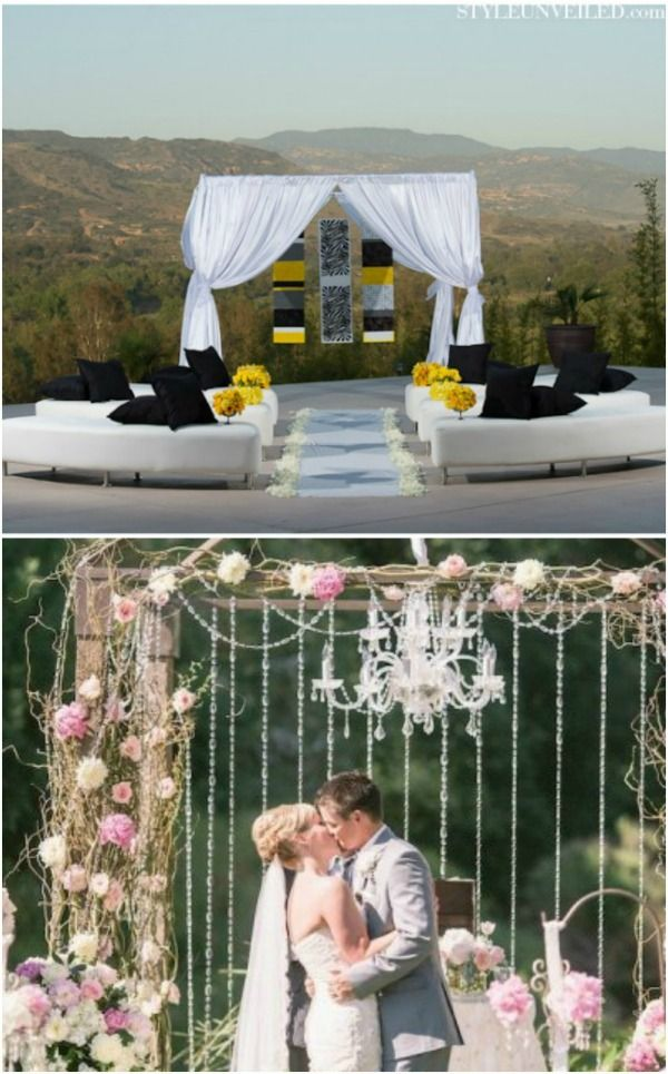 Love The Couch Seating Instead Of Chairs Wedding Ceremony Canopy Backdrop Ideas