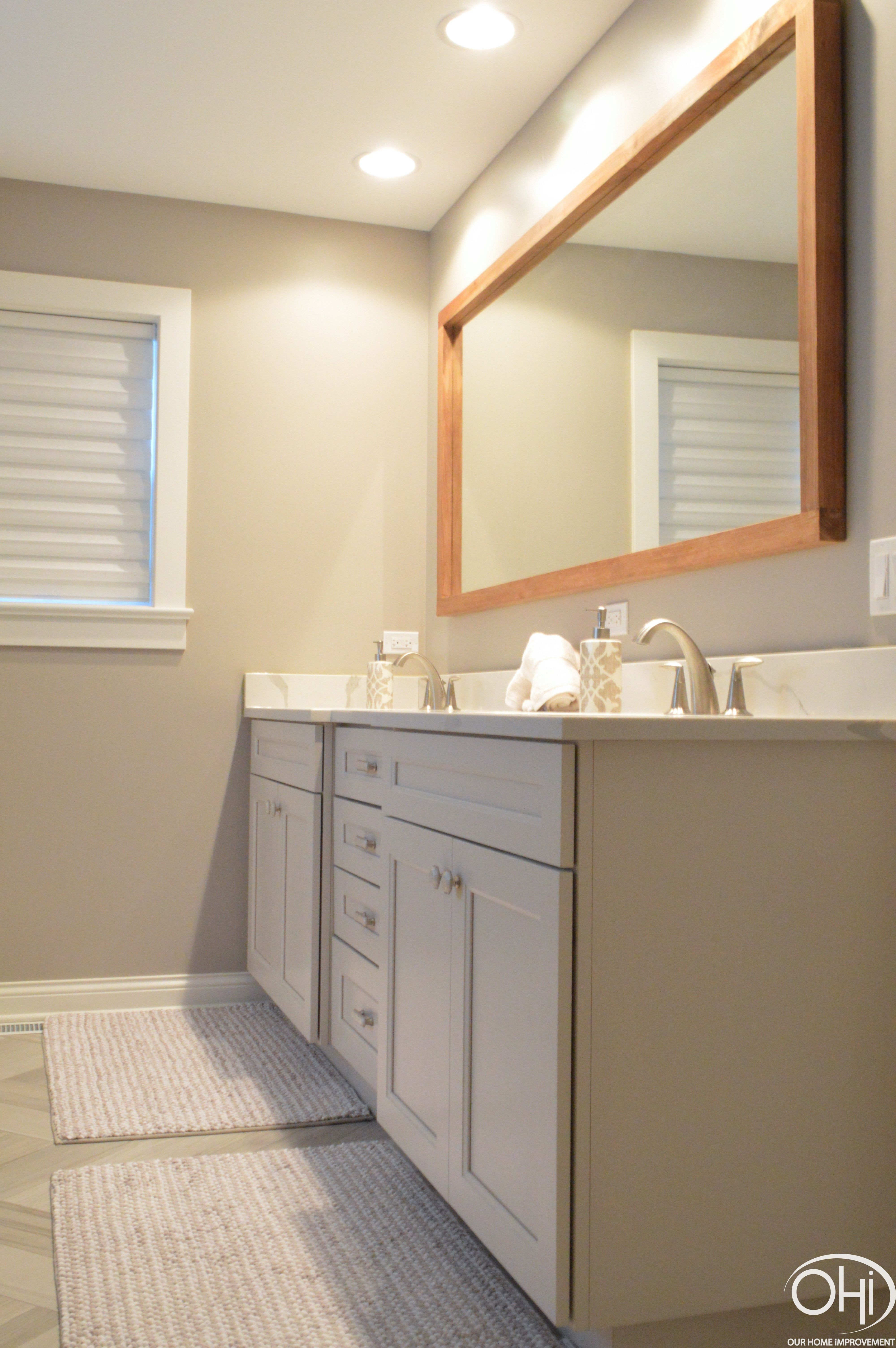 Master Bath Remodel Double Vanity Quartz Countertop And 4 Back
