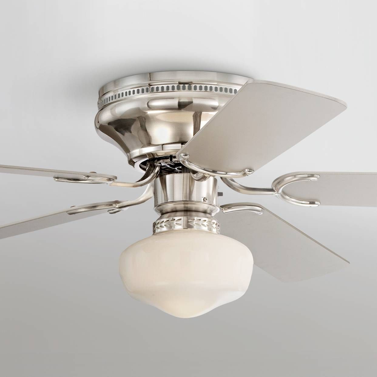 52 casa vieja hillhurst hugger ceiling fan 4f860 lamps plus silver finish blades and a brushed nickel finish motor give this hugger style ceiling fan a sleek polished look five silver finish blades mozeypictures Image collections