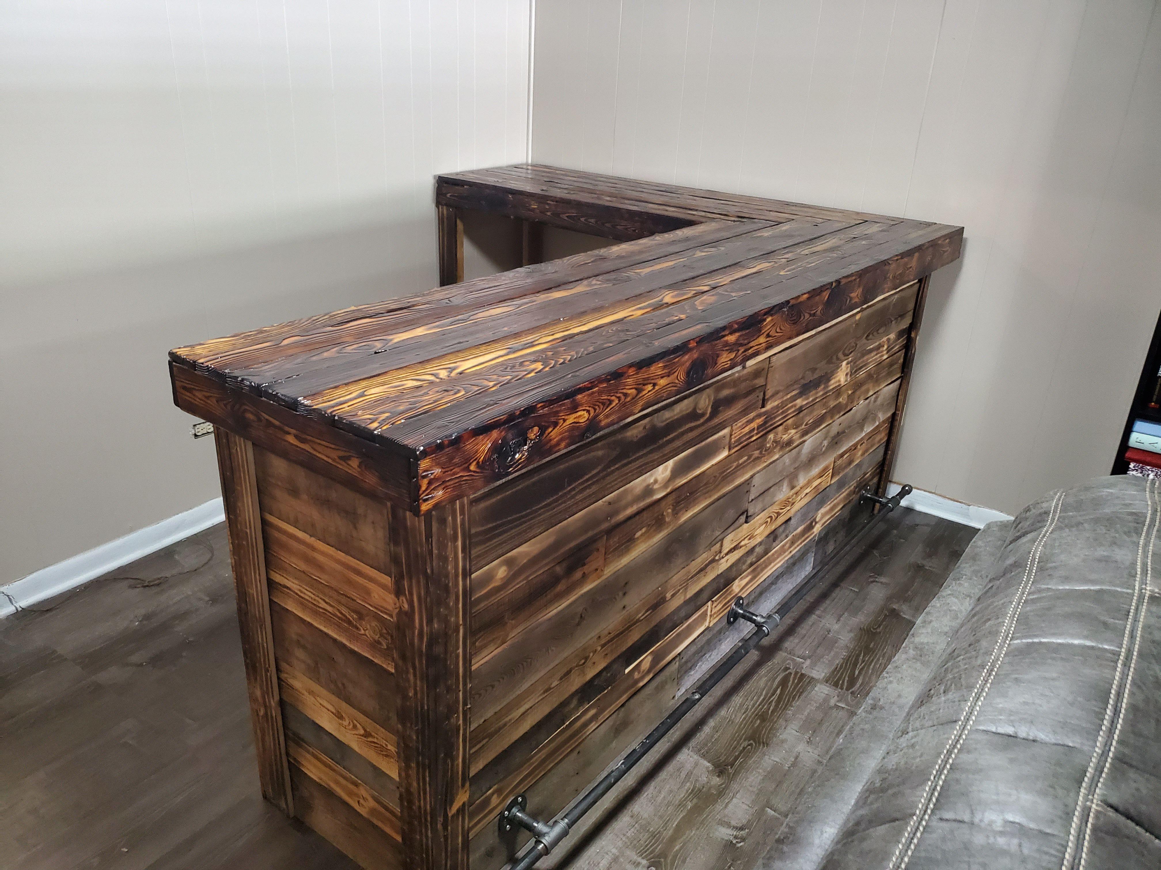 L Shaped Bar With 5 Whiskey Barrels L Shaped Bar Wine Barrel Bars For Home