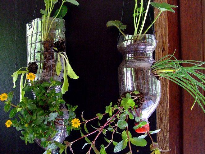 upcycling pet flasche kreatives pinterest gardens. Black Bedroom Furniture Sets. Home Design Ideas