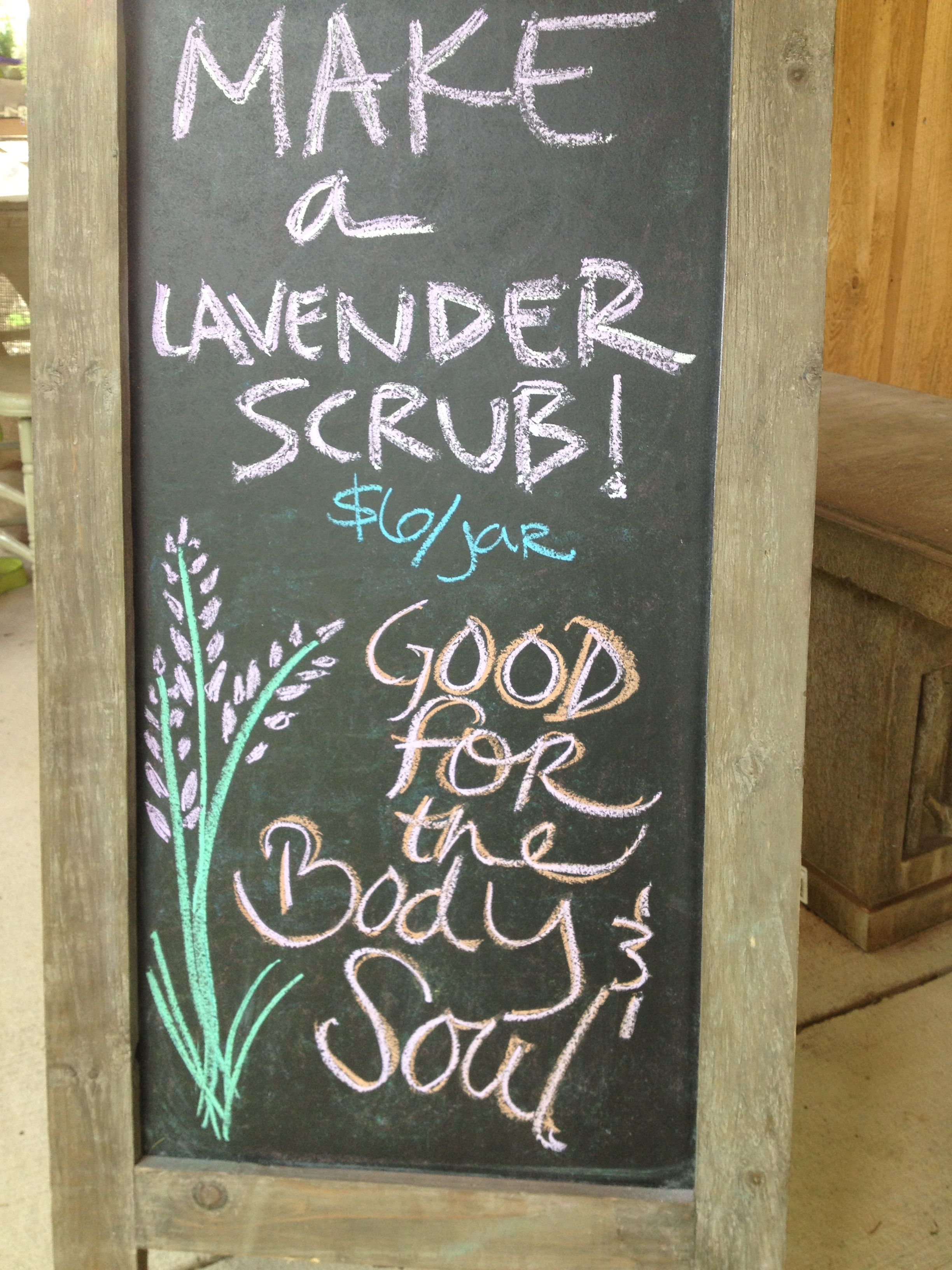 Lavender Love Day Chalkboard