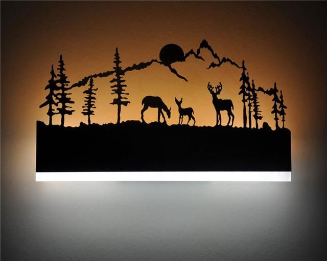 Black Acrylic Creative Modern Led Wall Lights | Creative led