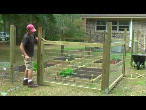How to build a simple garden fence Gardening Pinterest