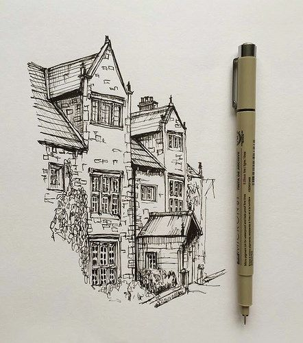 #art #drawing #pen #sketch #illustration #architecture #house
