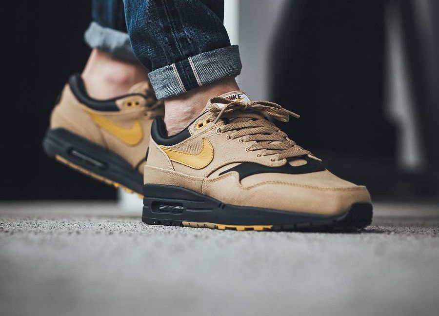uk availability 07b32 06cc5 NIKE AIR MAX 1 PREMIUM ELEMENTAL GOLD  YELLOW LIMITED EDITION  Nike  RunningShoes