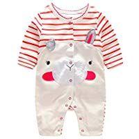 2e24b851c1a4b エルフ ベビー(Fairy Baby) 新生児服 カバーオールロンパース 前開き 長袖 春秋用 可愛い