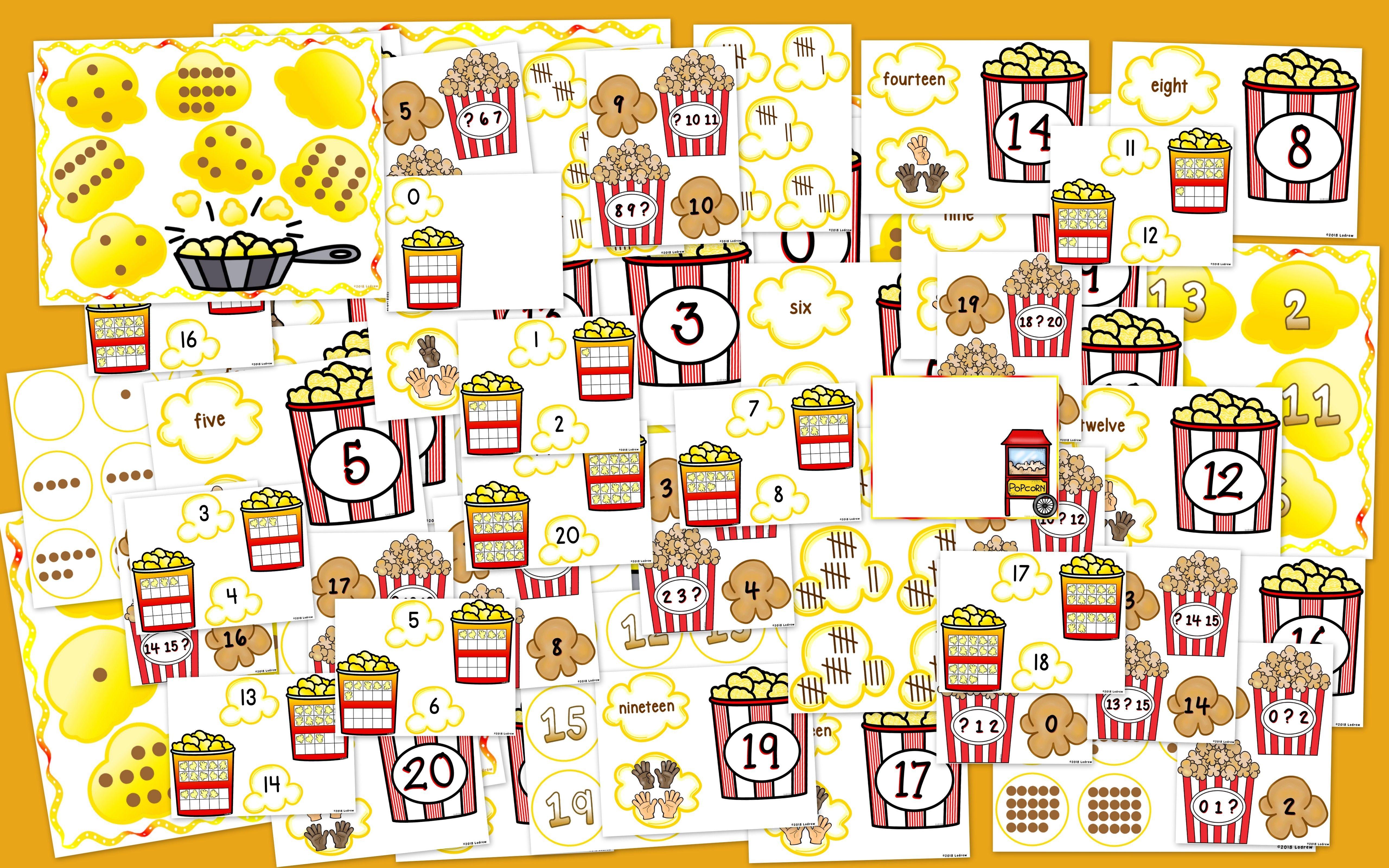 Popcorn Centers Number Games Math Centers Popcorn