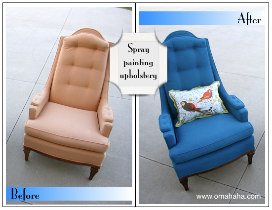 Painting Upholstery It Can Be Done With Fantastic Results Painting Fabric Furniture Painted Chairs Spray Paint Chairs