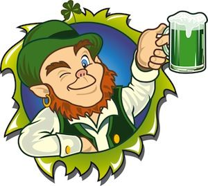 Image result for image irish leprechaun and beer
