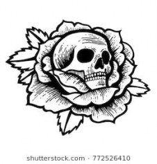 45 Super Ideas Tattoo Flower Old School Black Style