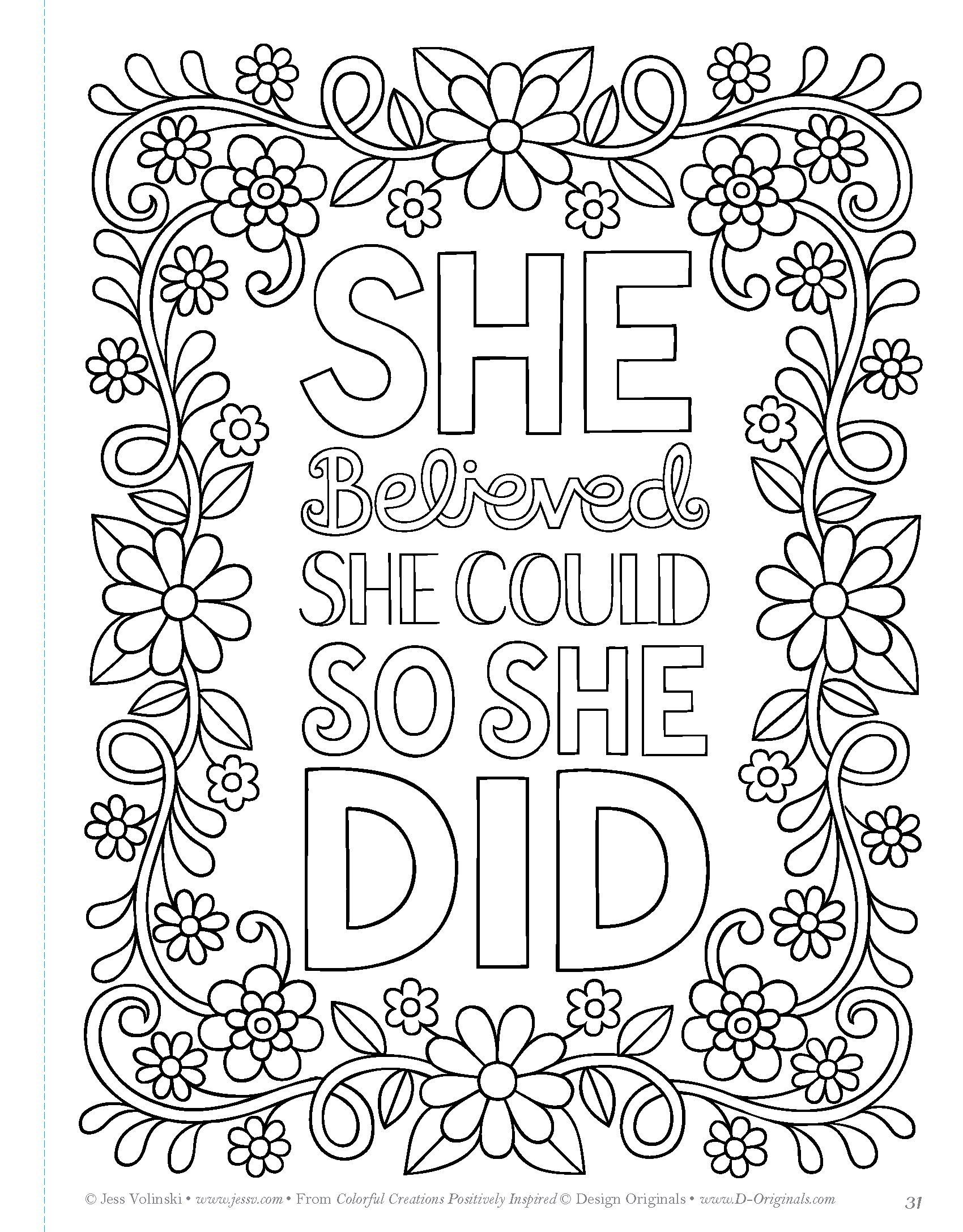 Image Result For Power Of Positivity Adult Coloring Book