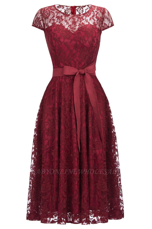 schöne abendkleider spitze wadenlang | elegante ballkleider