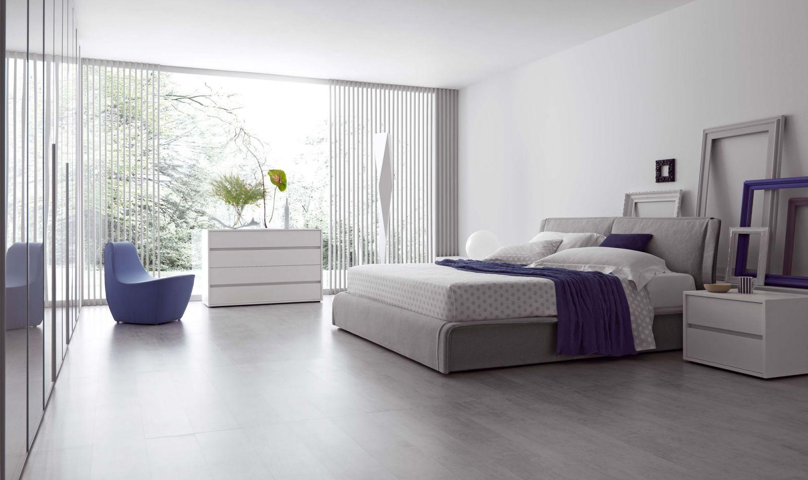 Modern Bedroom For Women purple white modern bedroom for women with windows blind large