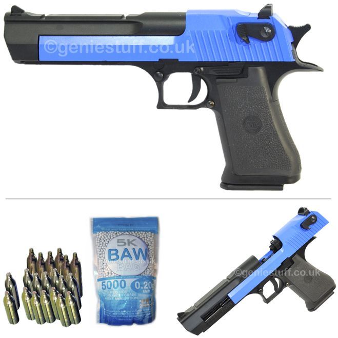 KWC Desert Eagle Co2 Two Tone Airsoft Pistol with 20 Co2