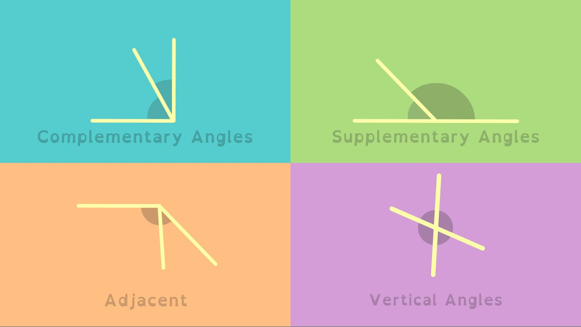 Adjacent And Supplementary Angles Worksheet