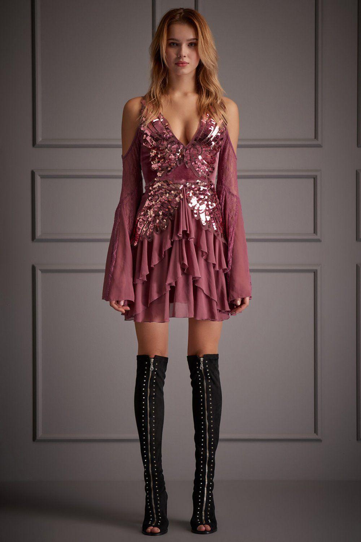 Raisa Vanessa For Trendyol Askili Kimmy Bordo Payetli Mini Abiye Elbise Elbisebul Elbise Mini Elbise Mini Elbiseler