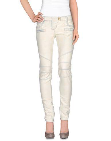 BALMAIN Denim trousers. #balmain #cloth #dress #top #skirt #pant #coat #jacket #jecket #beachwear #
