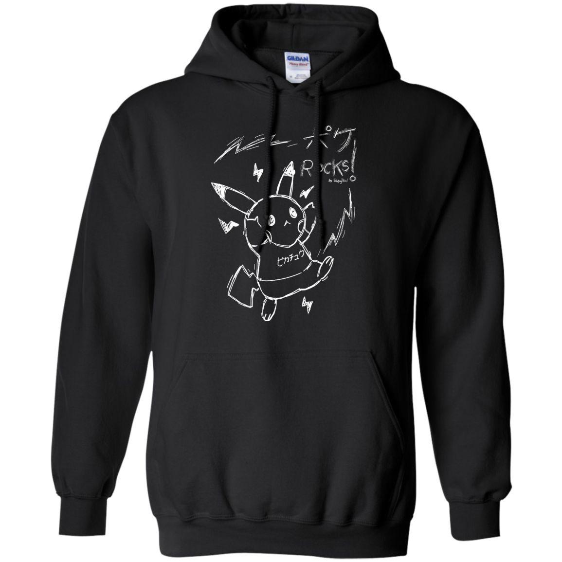POKÉ Rocks! Pikachu Cute Hoodie Tshirt