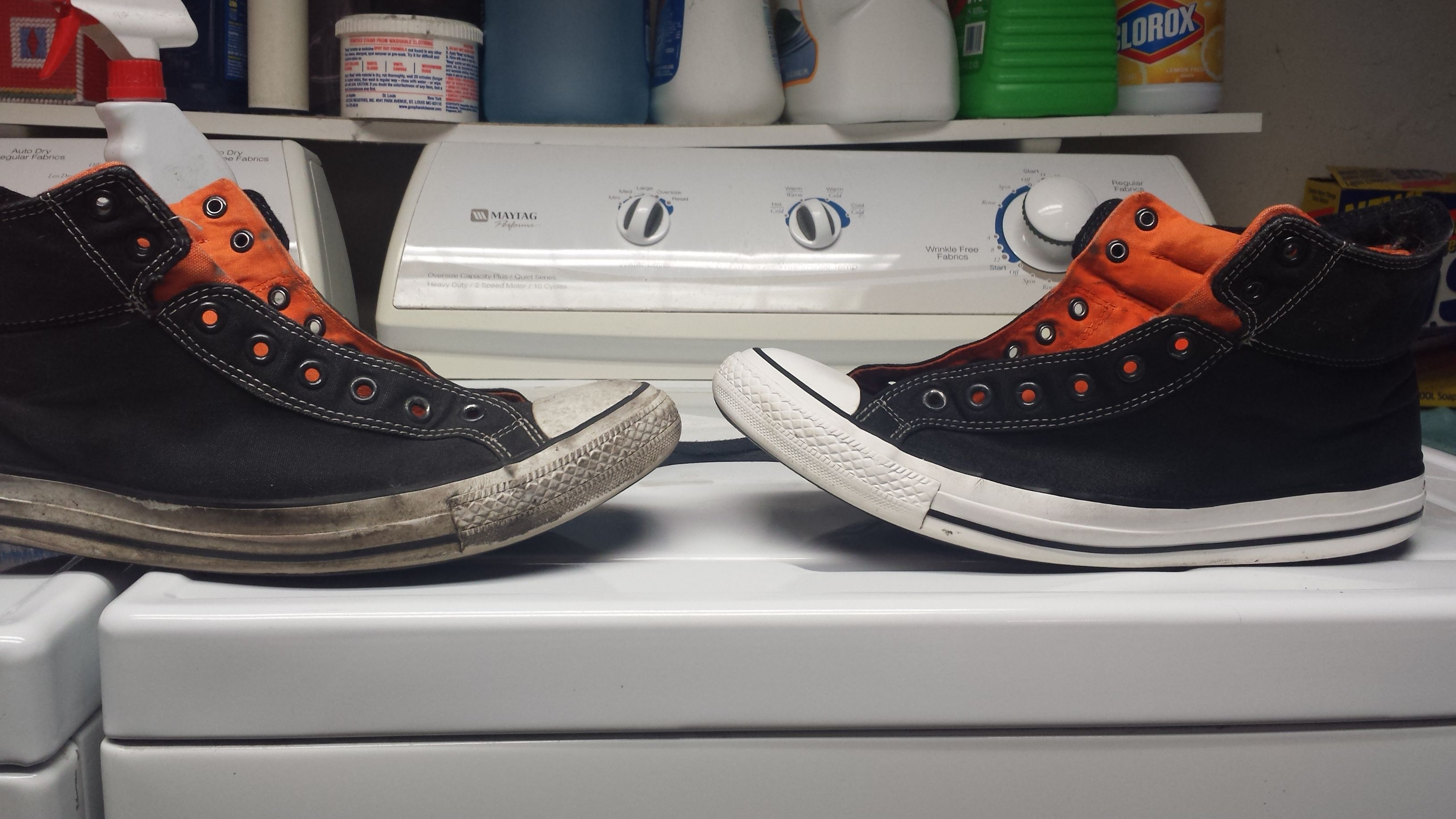 How to clean white rubber sneaker soles