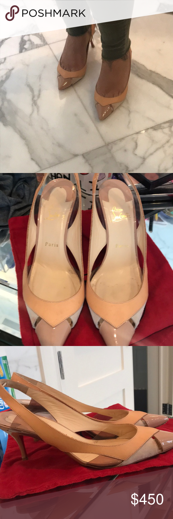 d62c9890daa3 Size 40 1 2 EU  10.5 US comes with one wider size dust bag! Christian  Louboutin Shoes Heels