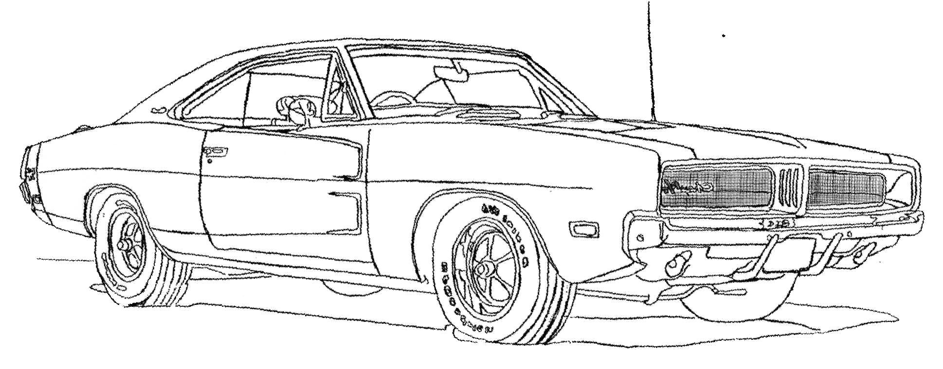 dodge car rx 1500 coloring page
