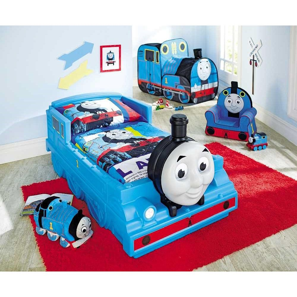 Thomas the train toddler bedding set my son pinterest toddler bed bed sets and toddler for Toddler train bedroom