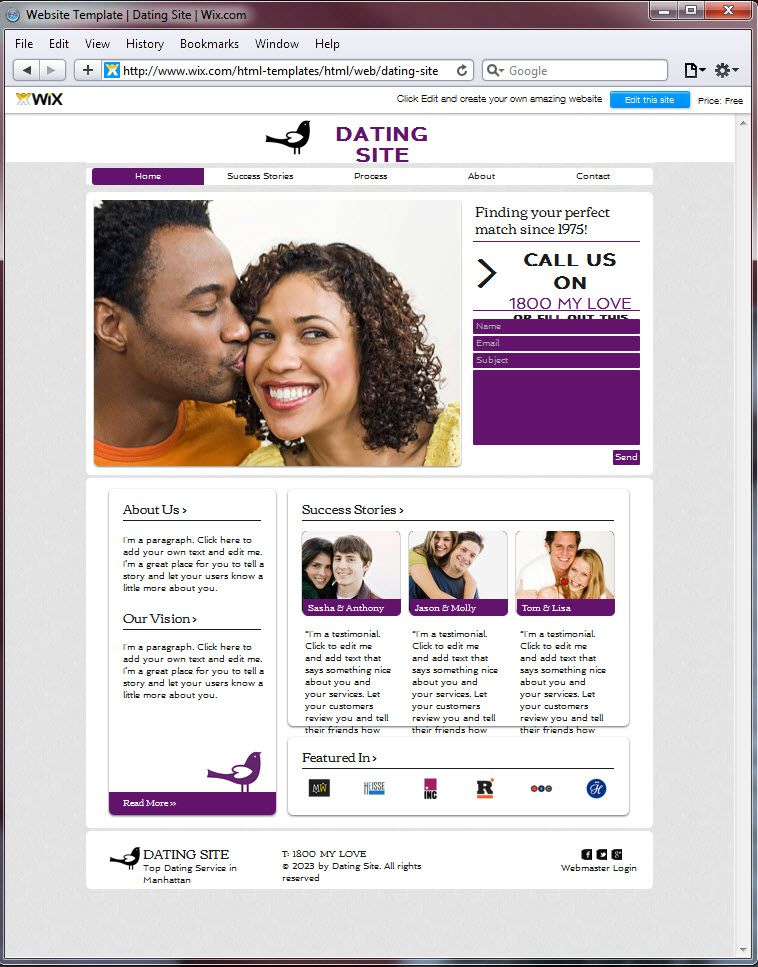 dating site in usa a instant message