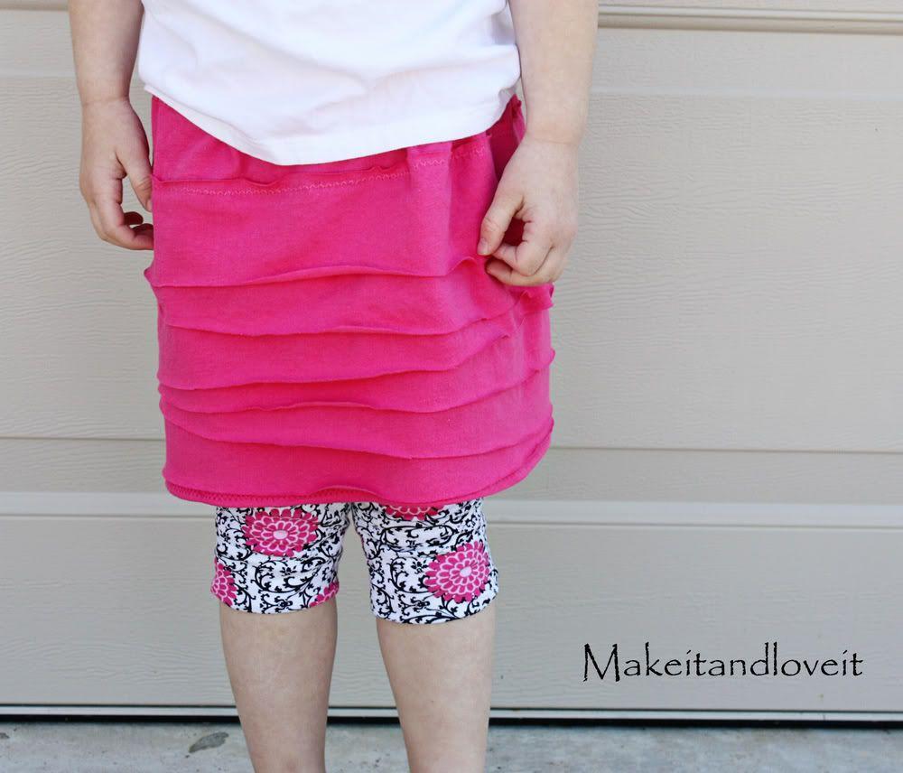 Girl's Knit Layered Skirt