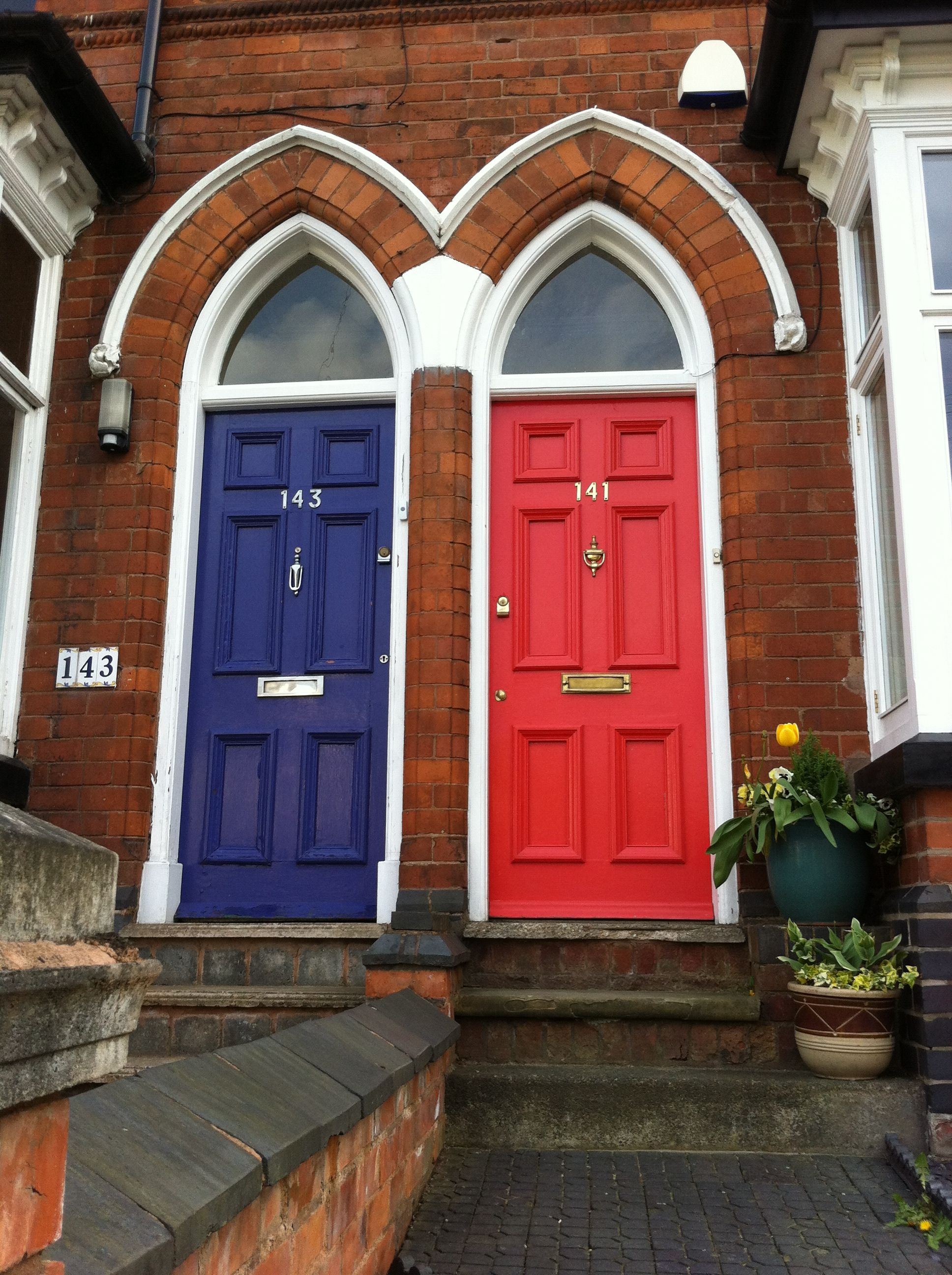 Twins nonidentical colourful front doors pinterest twin