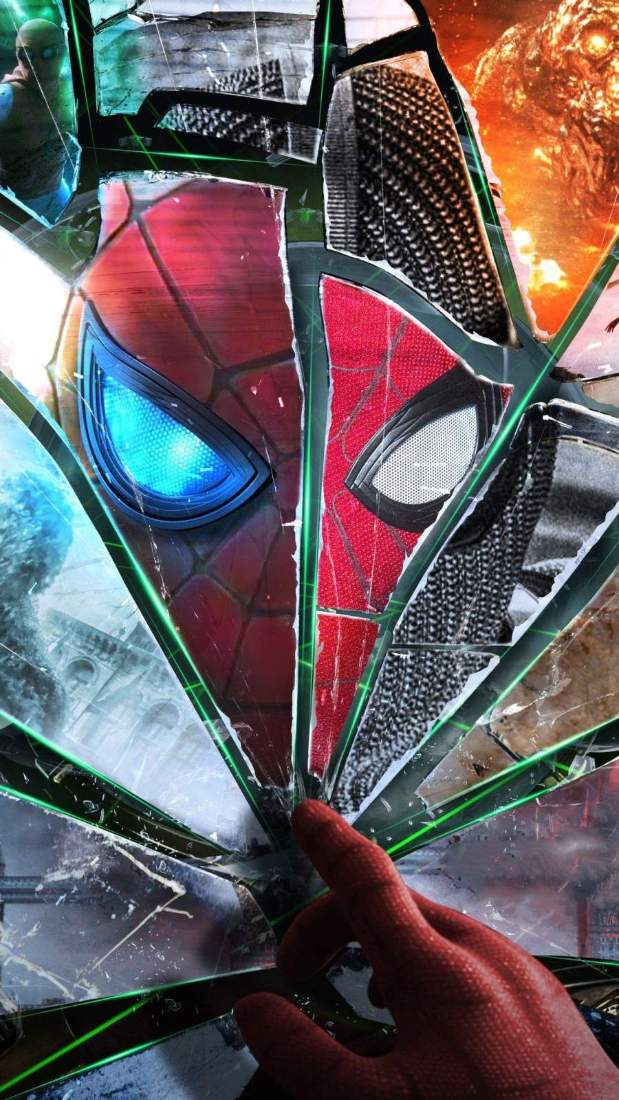 Spider Man Art Broken Glass Iphone Wallpaper Spiderman Art