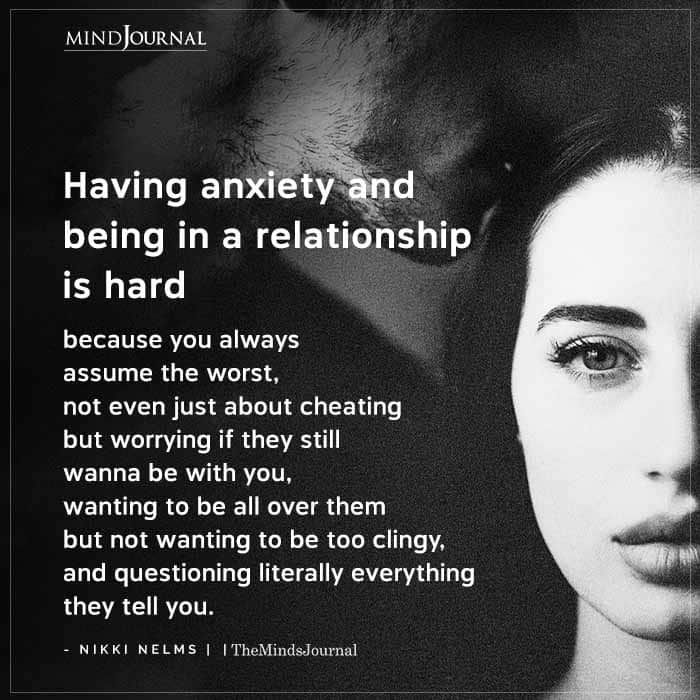Having Anxiety And Being In A Relationship Is Hard AF