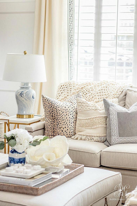 Ginger Jar Lamp Neutral Family Room Homedecorlivingroom Living Room Furniture Living Room Designs Neutral Family Room #small #living #room #lamps