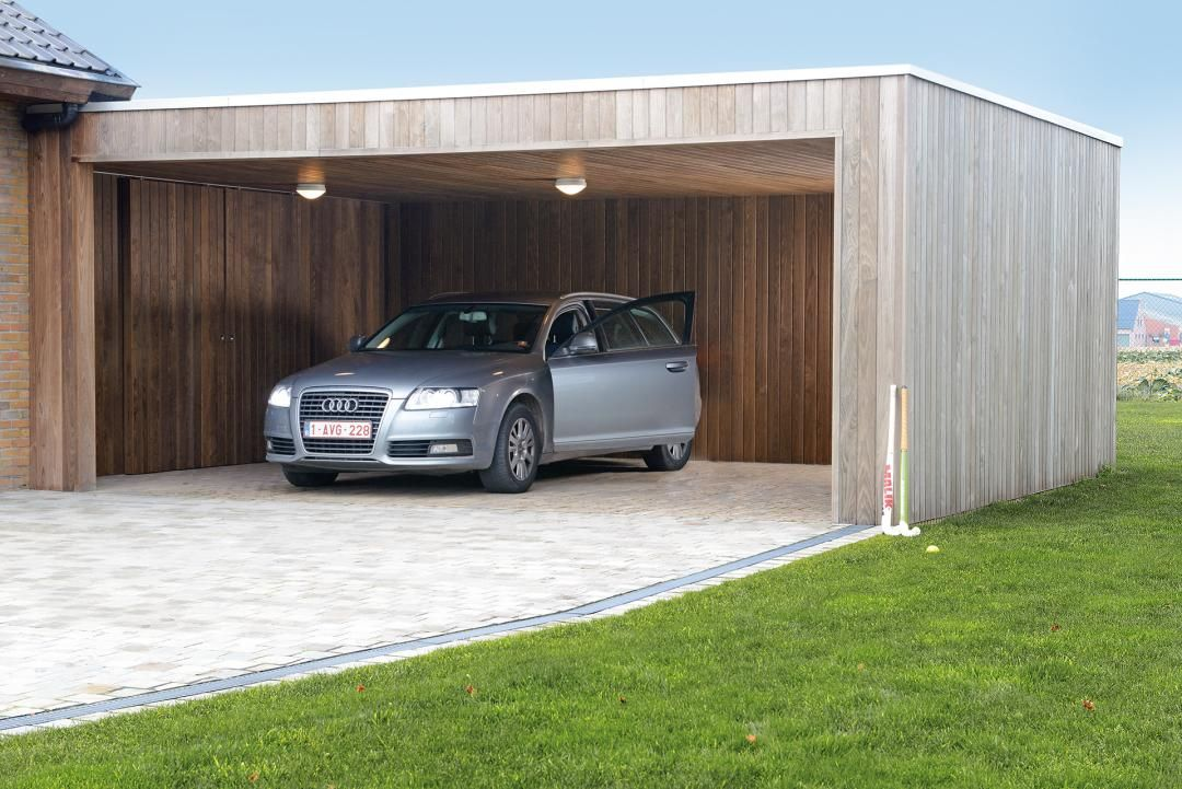 Garage modern holz  Moderne carport in hout. | Carport in hout / Carport en bois ...