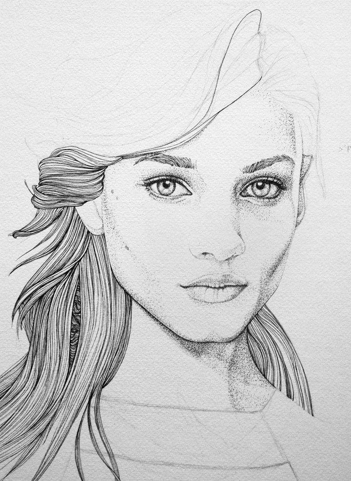 Anna Selezneva Wip Art Techniques Paint Portrait Art Ink Sketch