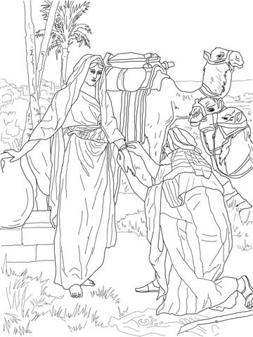 Moses And Zipporah Coloring Page Coloring Pages Bible Coloring