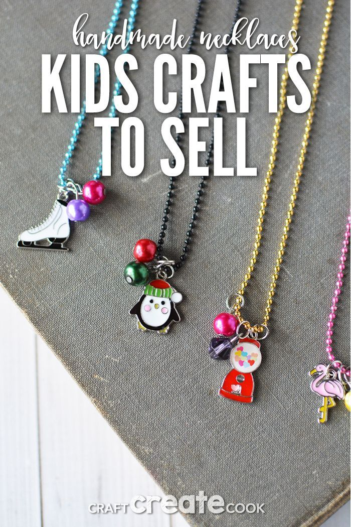 Craft Ideas For Kids To Sell Part - 45: Kids Craft Ideas To Sell Can Be Hard To Find, But These Necklaces Are  Perfect