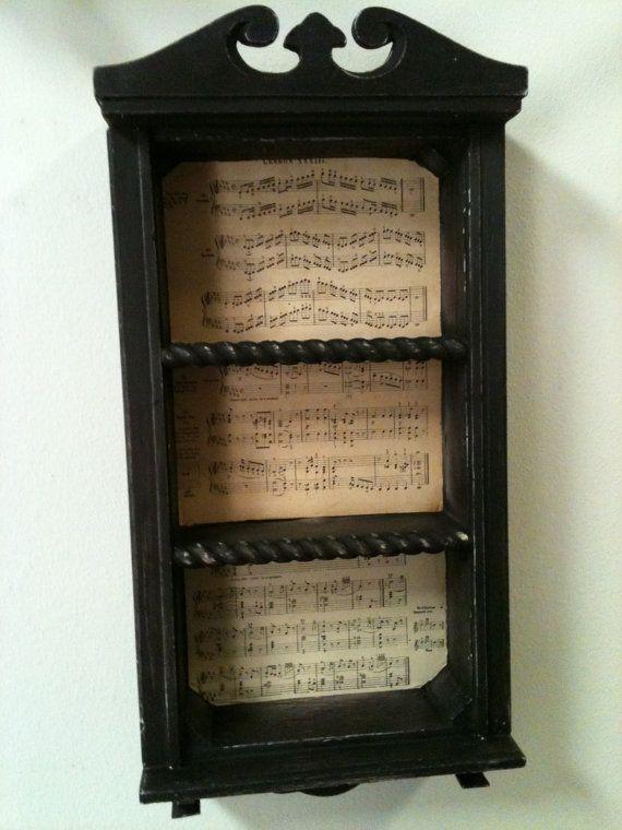 Curio Shelf Repurposed Vintage Clock Cabinet Old Sheet