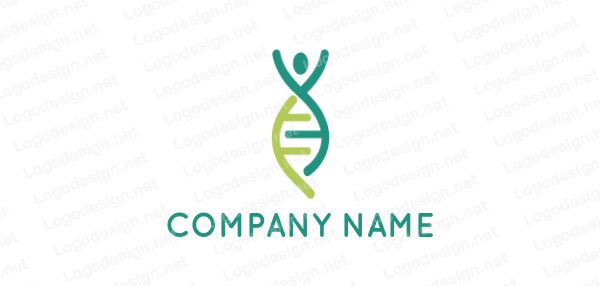 Abstract Person Made Of Dna Helix Dna Logo Medical Logo Free Medical