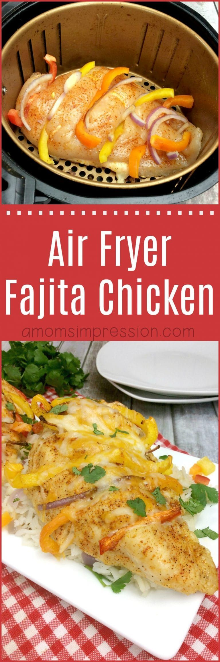 Here is a delicious and healthy air fryer fajita chicken