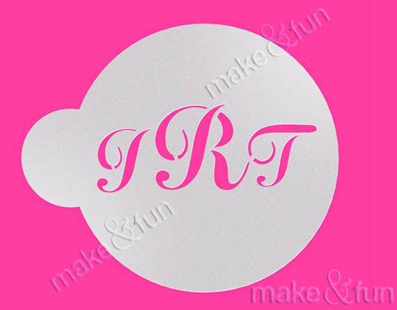 Custom Monogram StencilWedding Cookie Stencil Cake by makeandfun