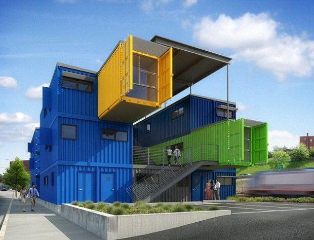 Container Ufficio Piccolo : Gb piccolo e sostenibile: lappartamento è un container
