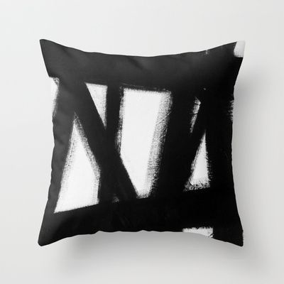 No. 63 Throw Pillow by Adriane Duckworth - $20.00