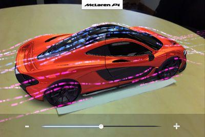 McLaren shows off concept car via augmented reality mobile app