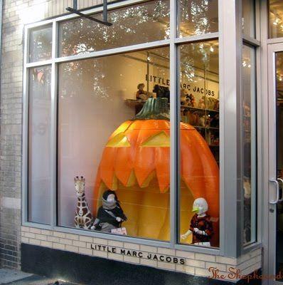A Big Pumpkin Halloween Window Display 2009 At Little Marc