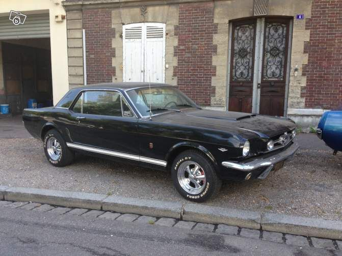 Ford Mustang 1965 V8 Noire Voitures Eure Leboncoin Fr Ford Mustang Ford Mustang 1965 Mustang 1965
