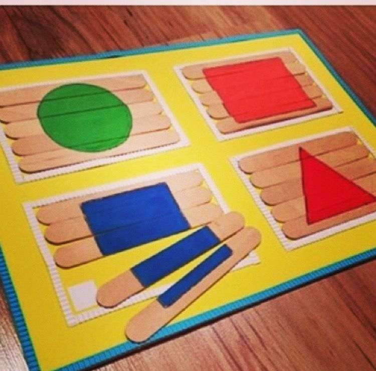 Think this is quite good so it makes it easier to learn shapes in a fun way using different colours for them :) #montessoriselbstgemacht