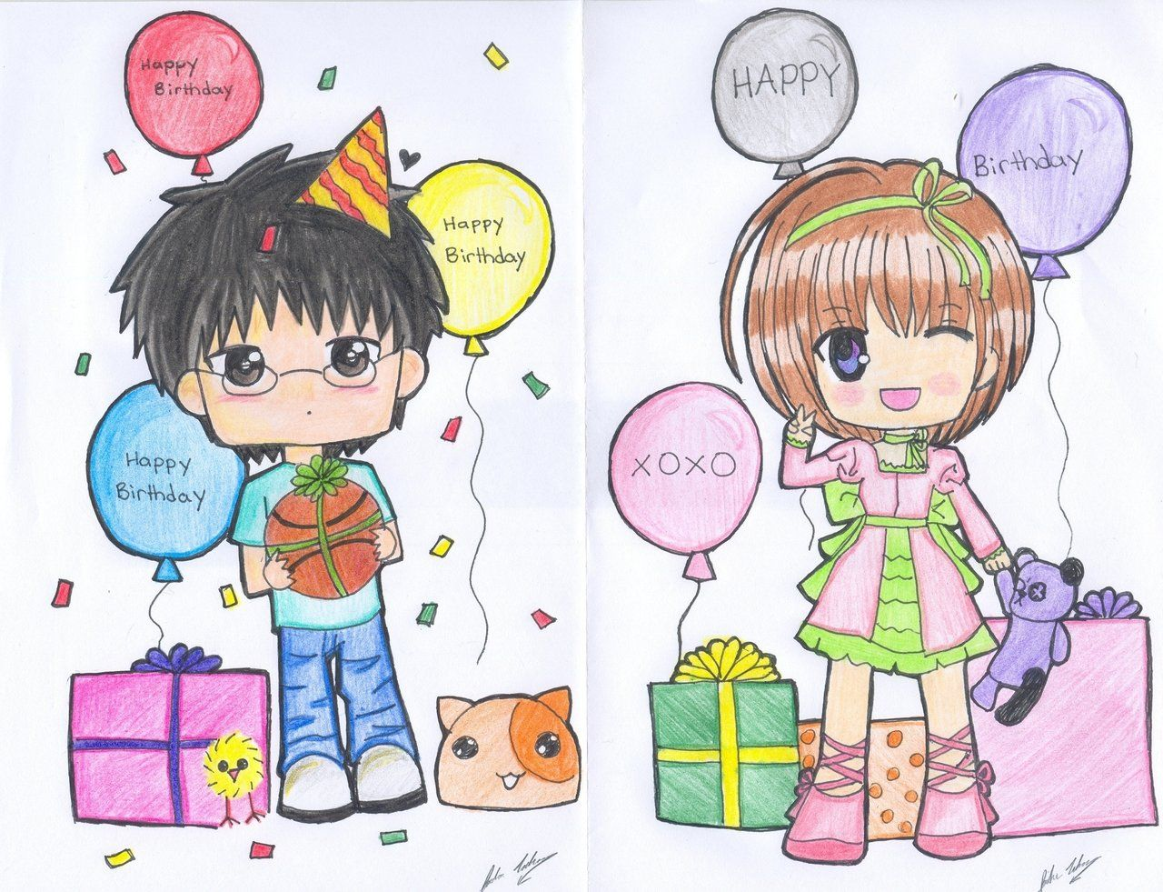 Birthday anime chibi google search to draw pinterest anime chibi birthday anime chibi google search kristyandbryce Image collections