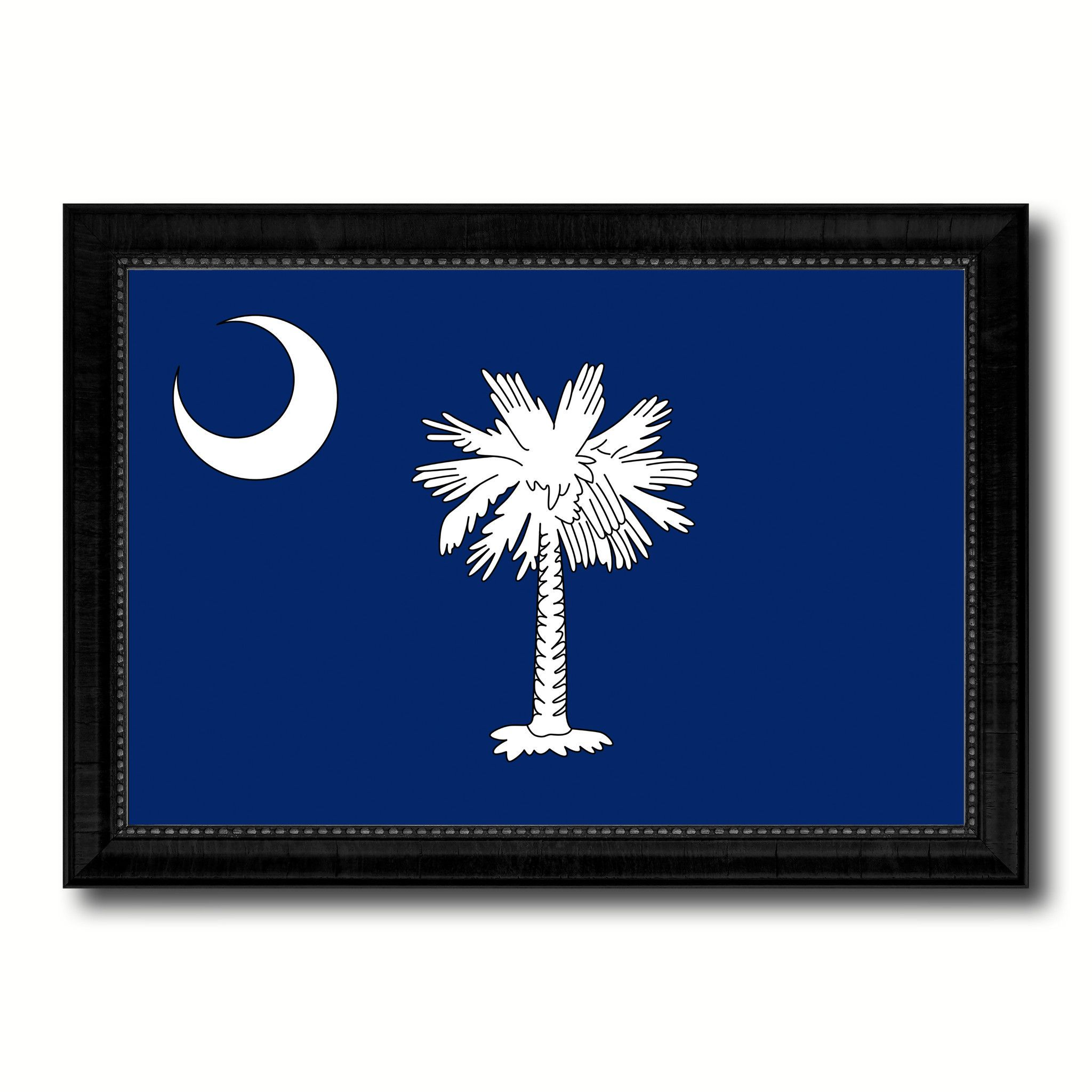 South carolina state flag canvas print with custom black picture south carolina state flag canvas print with custom black picture frame home decor wall art decoration gifts jeuxipadfo Image collections