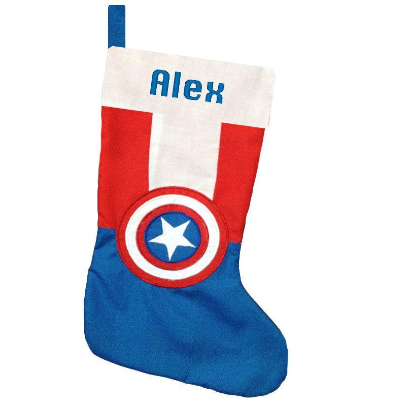 Marvel Avengers Blue Christmas Stocking |Marvel Stockings